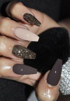 - 30 Adorable Nail Art Designs of 2019 - www. – 30 Adorable Nail Art Designs of 2019 www. – 30 Adorable Nail Art Designs of 2019 Best Acrylic Nails, Acrylic Nail Designs, Nail Art Designs, Nails Design, Brown Nail Polish, Brown Nails, Shiny Nails, Gel Polish, Gorgeous Nails