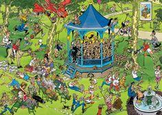 Jan van Haasteren: Het muziekpaviljoen (1500 stukjes)