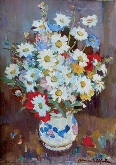 Adam Bălțatu - Flori de câmp    Lucrarea face parte dintr-o serie de 6 picturi, confiscate în perioada comunistă și recuperate recent de la Muzeul Municipiului București.