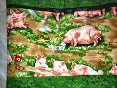 Pigs handmade totebag. OC High School of the Arts OShop