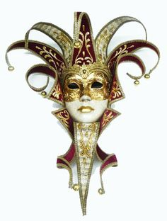 A beautiful venetian jester/jolly/joker mask.