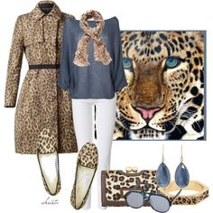 Leopard+polyvor | Blue Leopard - Polyvore