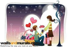 Boy proposing to girl teenage valentine day wallpaper