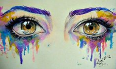 behind every tear is a colour of emotion