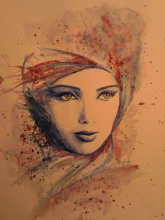 leslie eudes google peinture acrylique portrait aquarelle femme tache fleur pinterest. Black Bedroom Furniture Sets. Home Design Ideas