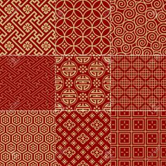 Seamless Traditional Auspicious Chinese Mesh Pattern Royalty Free Cliparts, Vectors, And Stock Illustration. Chinese Design, Asian Design, Chinese Art, Batik Pattern, Pattern Art, Pattern Design, Chinese Patterns, Japanese Patterns, Graphic Patterns