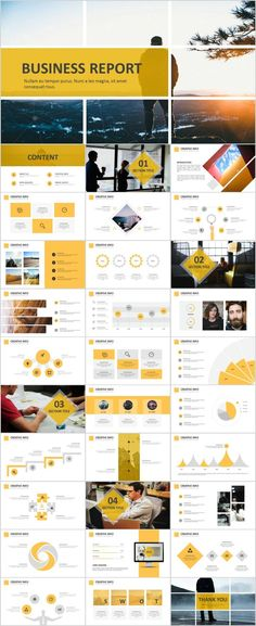 Best yellow business report PowerPoint template on Behance Simple Powerpoint Templates, Powerpoint Design Templates, Professional Powerpoint Templates, Business Powerpoint Templates, Keynote Template, Infographic Powerpoint, Best Ppt Templates, Powerpoint Tips, Microsoft Powerpoint