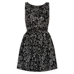 $26, Black and White Floral Skater Dress: Mela New Look Black Floral And Butterfly Print Belted Skater Dress. Sold by New Look. Click for more info: http://lookastic.com/women/shop_items/76756/redirect