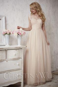 92060e4d0c1 Christina Wu Occasions 22683 This floor length sleeveless bridesmaid dress