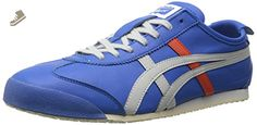 Onitsuka Tiger Mexico 66 Classic Running Shoe, Strong Blue/Soft Grey, 9 M US - Onitsuka tiger sneakers for women (*Amazon Partner-Link)
