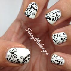 Fancy Phalanges: Blogger Friends Forever: Black & White