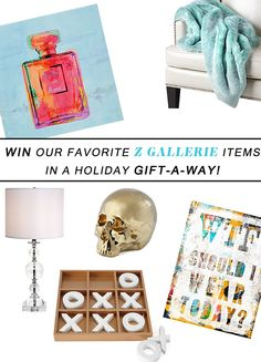 Win Our Favorite Z Gallerie Items In A Holiday Gift-A-Way! We're giving away awesome items each day this week!
