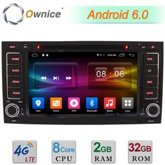 """2GB+32GB 7"""" Android 6.0 Octa Core 4G WIFI DAB Car DVD Player Radio For Volkswagen Touareg T5 Transporter Multivan GPS Navigation #Affiliate"""