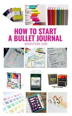 How to Start a Bullet Journal - an easy guide to starting your very first bullet journal!