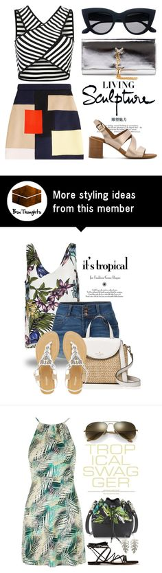 """May 10th (tfp) 1445"" by boxthoughts on Polyvore featuring MSGM, Yves Saint Laurent, See by Chloé and tfp"