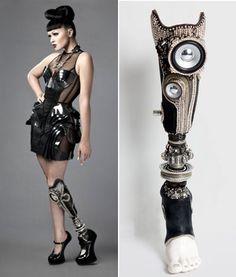 Viktoria Modesta wearing the stereo leg, created by Sophie de Oliveira fitted at ProActive prosthetics Photographed by Rosemarry Williams and John Enoch- The Alternative Limb Project