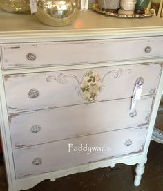 Maybe for my desk/nightstand????  Chalk Paint® Paloma and Paris Grey