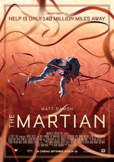 The Martian x Mars Movies, Sci Fi Movies, Cinema Movies, Best Movie Posters, Movie Poster Art, Matt Damon, The Martian Film, Nasa, Space Movies
