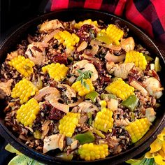 """Columbian Chicken & Wild Rice Pilaf, by Brenda Watts, is vying for 1st place in our """"Get Wild w/ Wild Rice"""" recipe contest! You can still enter your creations thru July 5 at link below! #wildricecontest #rusticfoods Minnesota Wild Rice, Wild Rice Pilaf, Wild Rice Recipes, Rice Pilaf Recipe, Cooking Contest, Chicken And Wild Rice, Rice Dishes, Paella, Link"""
