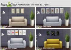 Decor: Ikea postcards part 3 from Around The Sims 4 Around The Sims 4, Sims 4 Cc Furniture, Outdoor Furniture Sets, Outdoor Decor, Floor Chair, Ikea, Postcards, Ts4 Cc, Home Decor