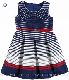 Stripe Dress - MAYORAL 6953 - Little Cherubs Clothing