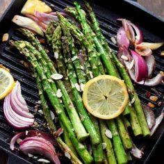 Pan Roasted Asparagus Almondine | www.diethood.com