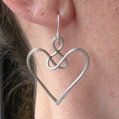 Angel earrings celtic jewelry wire knot aluminum by AdroitJewelers, $22.00