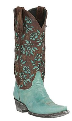 Turquoise and brown Old Gringo boots from Cavenders