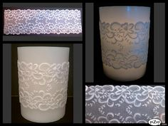 Handmade Parchment Paper Candle Wrap for a  Flameless Candle, by Delicate Designs by Kelly