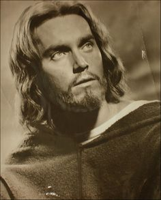 Jeffrey Hunter as 'Jesus Christ'.