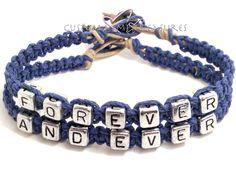 Forever and Ever Bracelets, Couples Bracelets, Boyfriend Girlfriend Bracelets, Couples Gift,, Gift for her