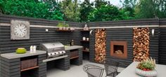 Gardenplaza: modern outdoor kitchens are spacious and show style: kitchen ., Gardenplaza: modern outdoor kitchens are spacious and show style: kitchen ., # spacious While historical within notion, a pergola has been suffering from. Modern Outdoor Kitchen, Outdoor Kitchen Bars, Patio Kitchen, Rustic Outdoor Kitchens, Modern Farmhouse, Outdoor Kitchen Countertops, Concrete Countertops, Outdoor Furniture Sets, Outdoor Decor