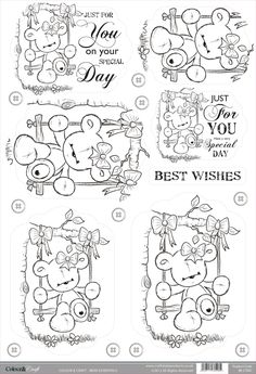 Foil Play: Buzzcraft Colour & Craft cute die cut toppers - Bear Swing