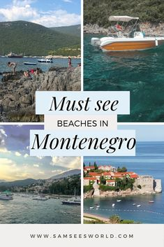 If you are a lover of the water and looking for somewhere unique and beautiful to splash around, look no further than the top Montenegro beaches. Despite its small size, the country of Montenegro is filled with beautiful blue water beaches surrounded by stunning mountains. Montenegro Travel, See World, European Travel, Travel Guides, Beaches, Travel Destinations, Most Beautiful, Collections, Mountains
