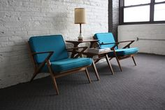 Brilliant Danish Mid Century Modern Poul Jensen Z Chairs for Selig (Denmark, 1950's) by Kinzco, via Flickr