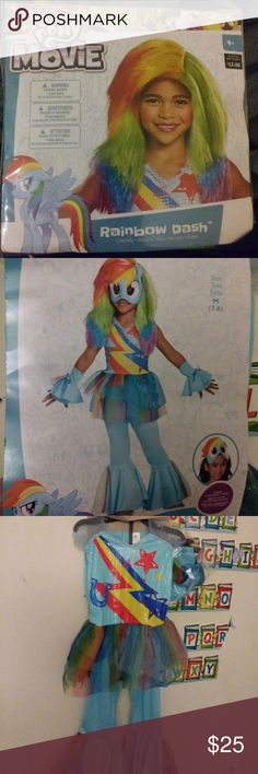 Pony costume 6 pc  Size M 7-8 Include( Costume,Mask and 2 gloves) Wig .... Dresses Casual