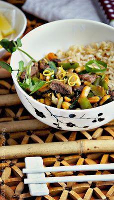 Thai Beef Stir-Fry over Brown Rice @Sandra