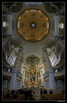Architecture - seleznev - Дрезден. Фрауэнкирхе. Внутри.