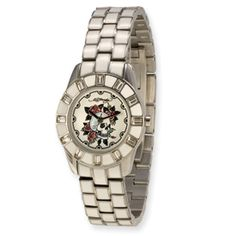 Chic - Ladies - White Dial: White enamel on band and case make this Ed Hardy Chic model ladies watch easy to wear with anything. Urban cool at its finest.