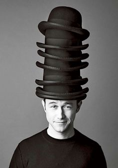 Joseph Gordon Levitt, 2013. A man of many hats, one for each career.