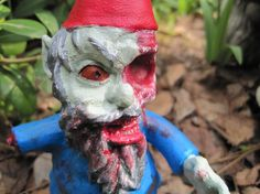 Spooky zombie gnomes for the garden. This would creep me out, but it does make me laugh.
