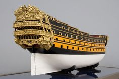 large picture Le Royal Louis 1697 by Seinoshin Hamanaka Model Sailing Ships, Model Ships, Model Ship Building, Hms Victory, Ship Of The Line, Ww2 History, Man Of War, Naval, Wooden Ship