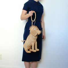 Vintage 1950s Wicker Animal Purse / 50s Straw by lapoubellevintage, $425.00. Holy smokes this is just plain ugly. Sorry, but true and the price wow!