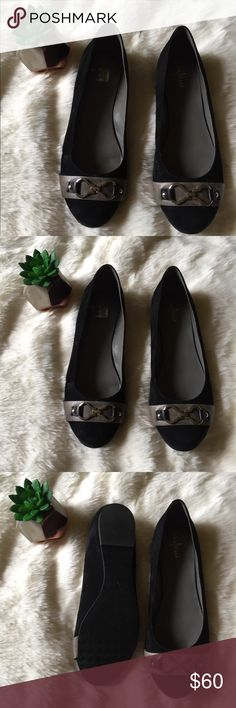 Cole Haan Black Leather Flats NWOT Cole Haan Leather Flats. All black, buckle at the toe, no flaws Cole Haan Shoes Flats & Loafers