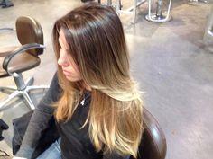 Ombré brunette to blonde #hair pretty