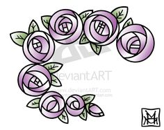 Mackintosh Roses Tattoo by phantoms-siren on DeviantArt You might have noticed that I have a thing for Art Nouveau (what can I say, I love outlines). Charles Rennie Mackintosh has always been a design hero of mine and I've been drawing roses in his. Stained Glass Flowers, Stained Glass Designs, Stained Glass Patterns, Rose Tattoos, Flower Tattoos, New Tattoos, Fleurs Art Nouveau, Charles Rennie Mackintosh Designs, Art Deco Tattoo