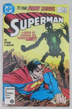 Superman #1 (Jan 1987, DC) Byrne cover NM- 9.2