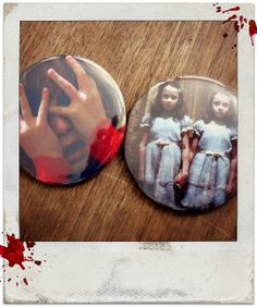 Danny Isn't Here Mrs. Torrence  2 Large buttons 2 1/4 set by BedlamSupplyCo, $4.25 the shining horror king kubrick