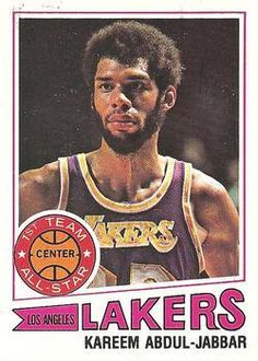 Basketball History, Basketball Legends, Love And Basketball, Sports Basketball, Basketball Cards, Basketball Players, Nba Players, Kareem Abdul Jabbar, Sport Icon