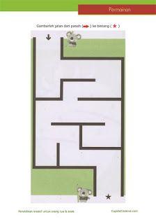 permainan anak balita/TK/SD, gambar maze (labirin), disney